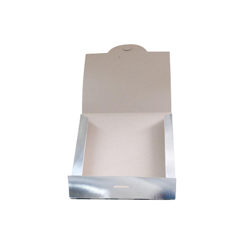 Caixa de Azulejo Sublimável Fechada - Prata - 15x15cm - Pct com 12 und