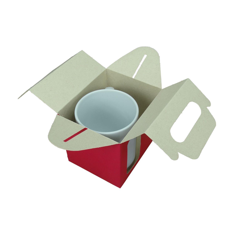 Caixa de Caneca - Com Janela - Pink - Pacote Com 12 Und