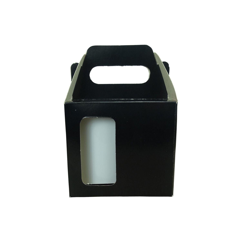 Caixa de Caneca - Com Janela - Preta - Pacote Com 12 Und