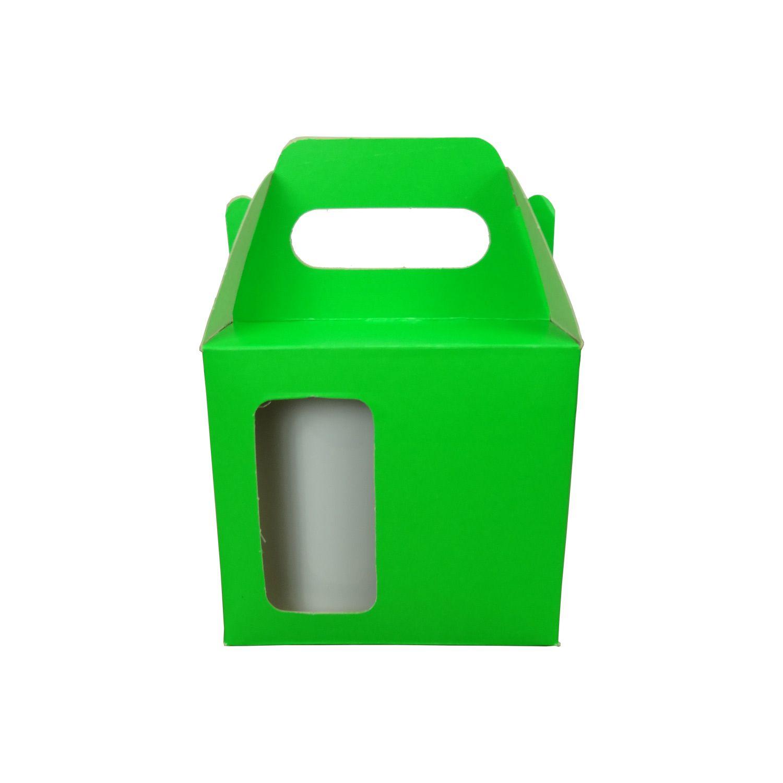 Caixa de Caneca - Com Janela - Verde Lumiset - Pacote Com 12 Und