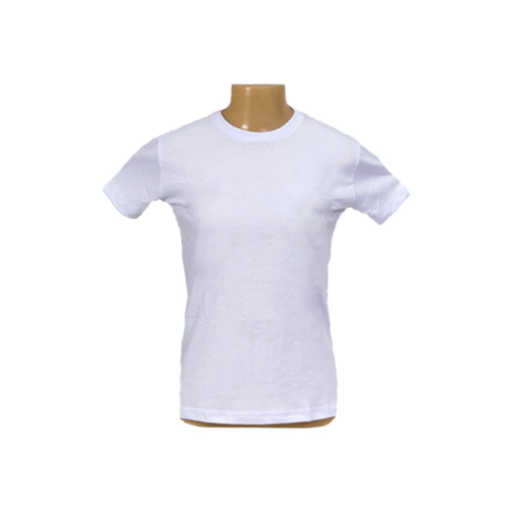 Camiseta Branca 100% Poliéster - 160g - Adulto