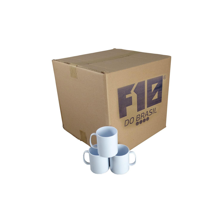 Caneca Branca de Polímero para Sublimação 350ml cx100un