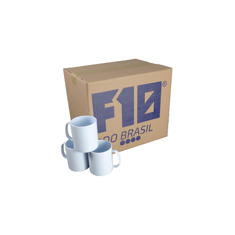 Caneca Branca de Polímero para Sublimação 350ml cx36un