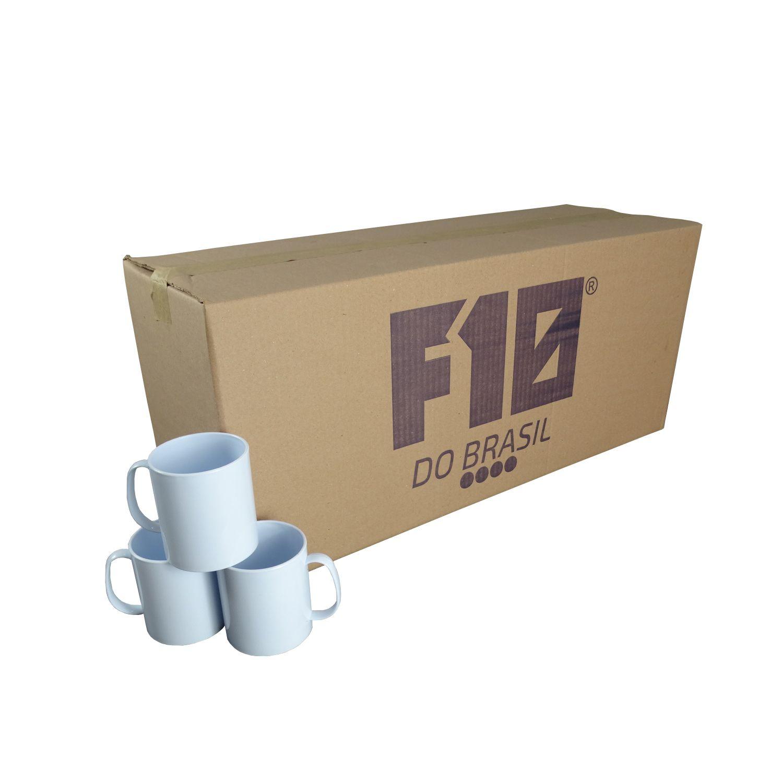 Caneca Branca de Polímero para Sublimação 350ml cx72un
