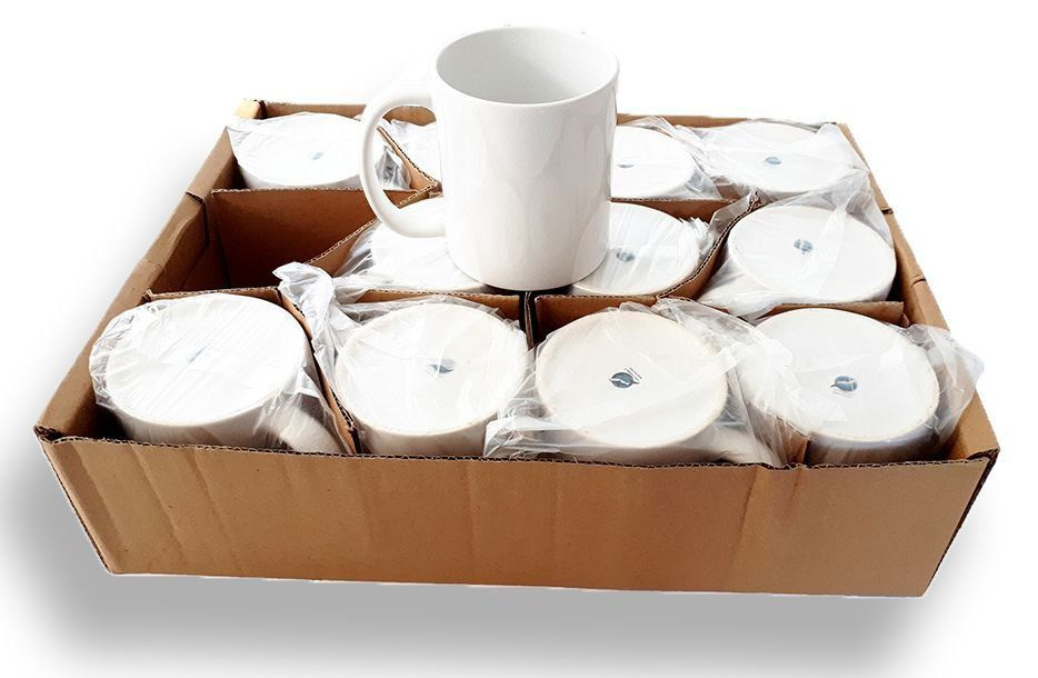 Caneca Branca Para Sublimação - Classe AAA - Mecoulor - 325ml - Caixa Com 36 Unidades