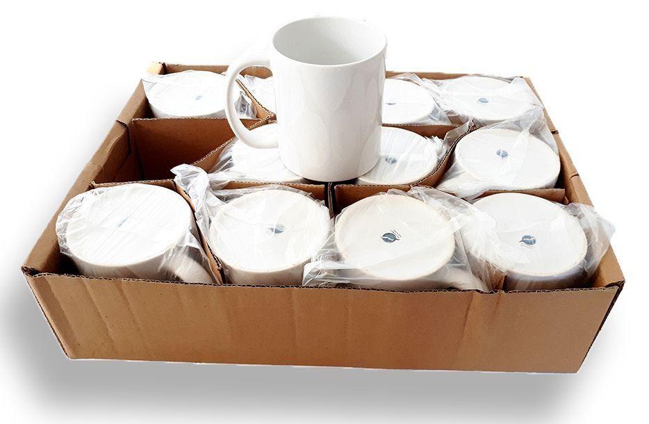 Caneca Branca Para Sublimação - Classe AAA - Mecoulor - 325ml - Caixa Com 12 Unidades