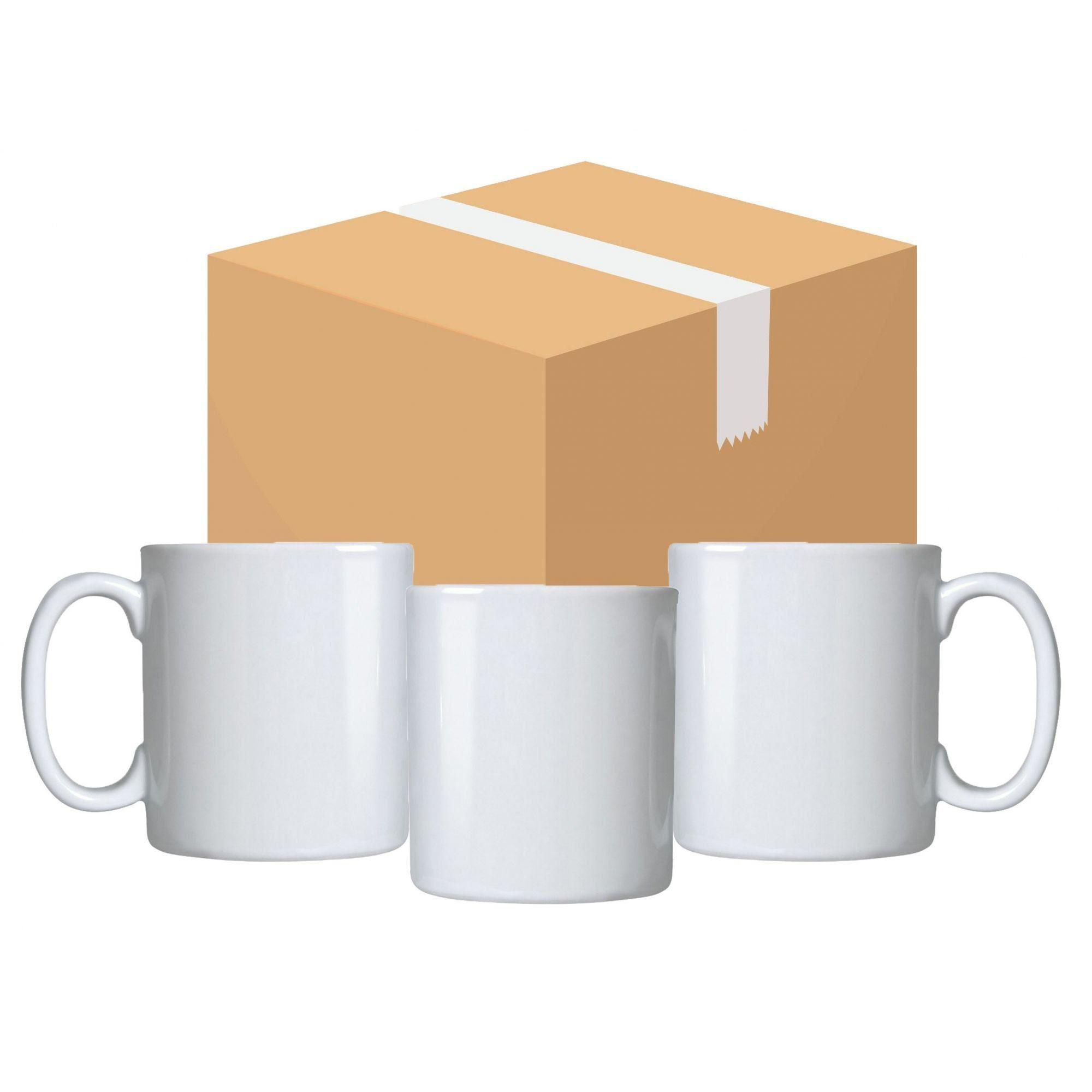 Caneca Branca Para Sublimação - Classe AAA - Mecoulor - 325ml - Caixa Com 48 Unidades