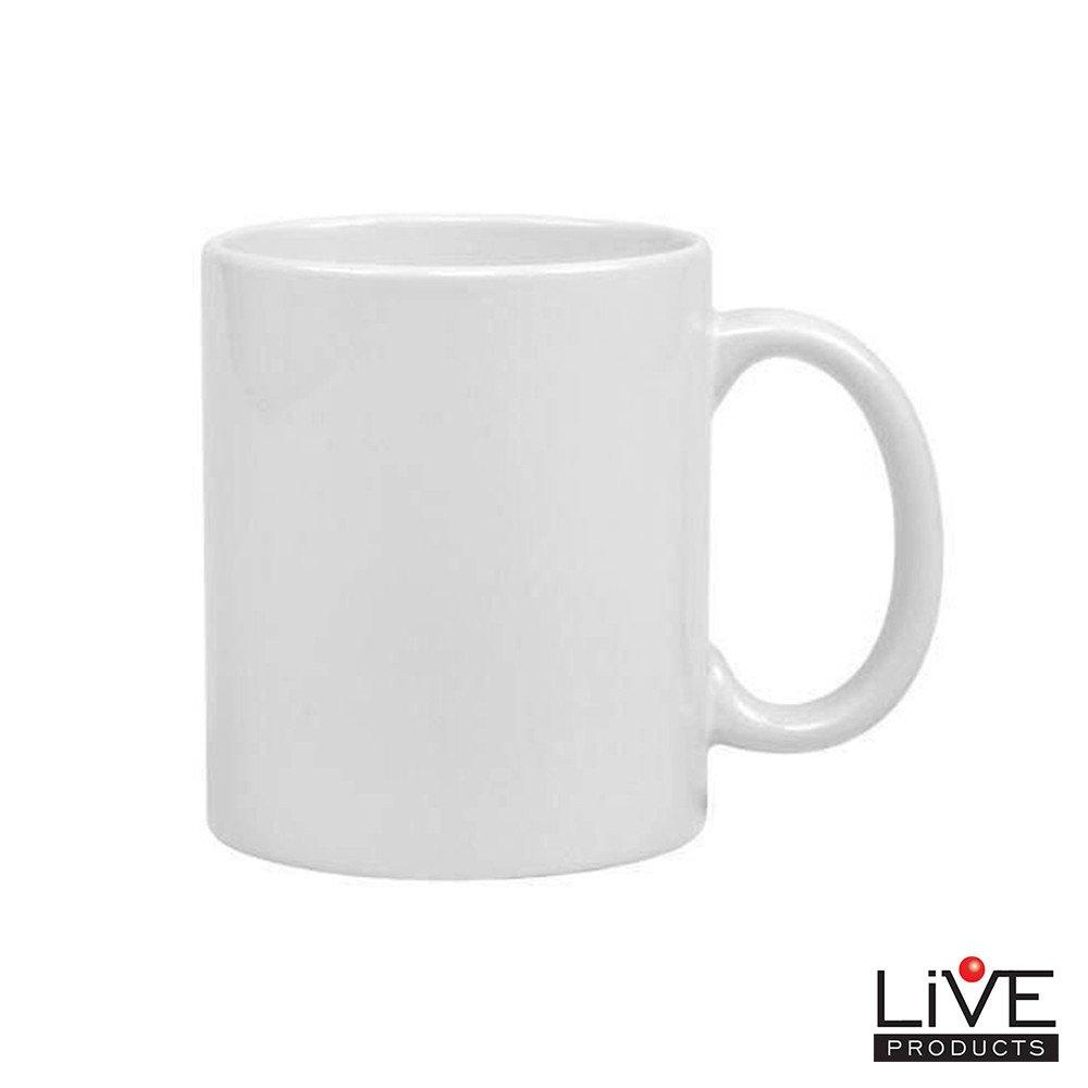 Caneca Branca Para Sublimação - LIVE - 325ml - Caixa Com 48 Unidades