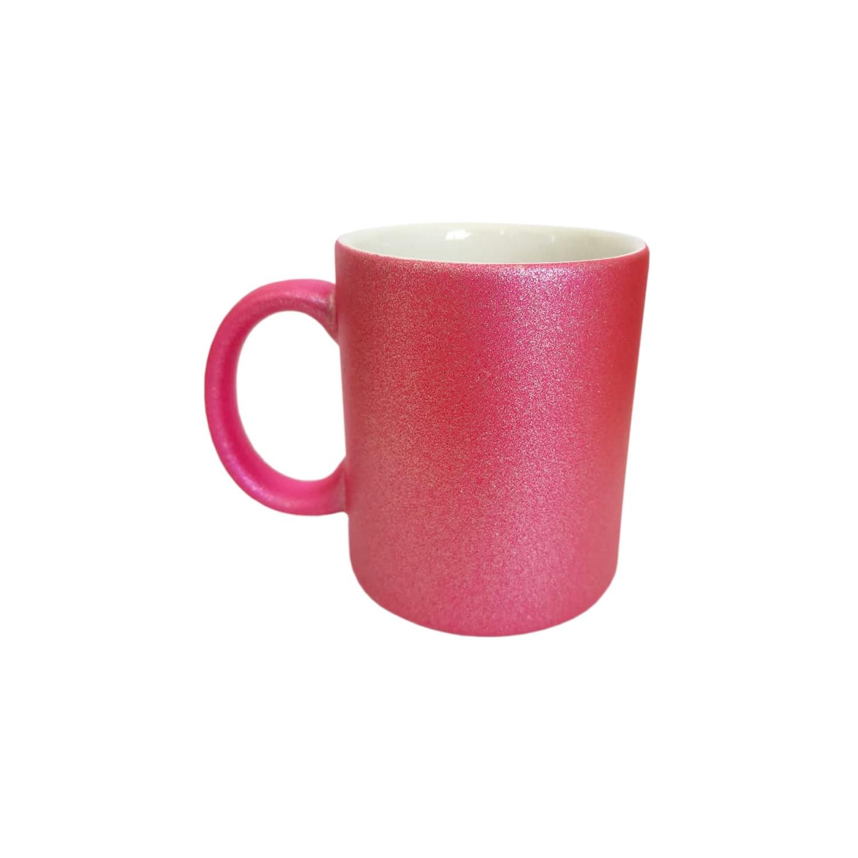 Caneca Com Glitter Para Sublimação Rosa