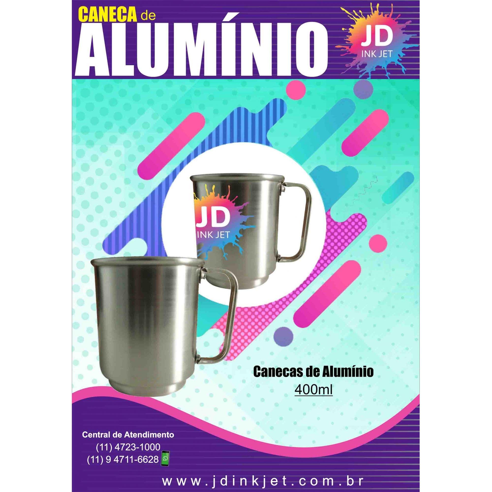 Caneca de Alumínio 400ml Brilhante