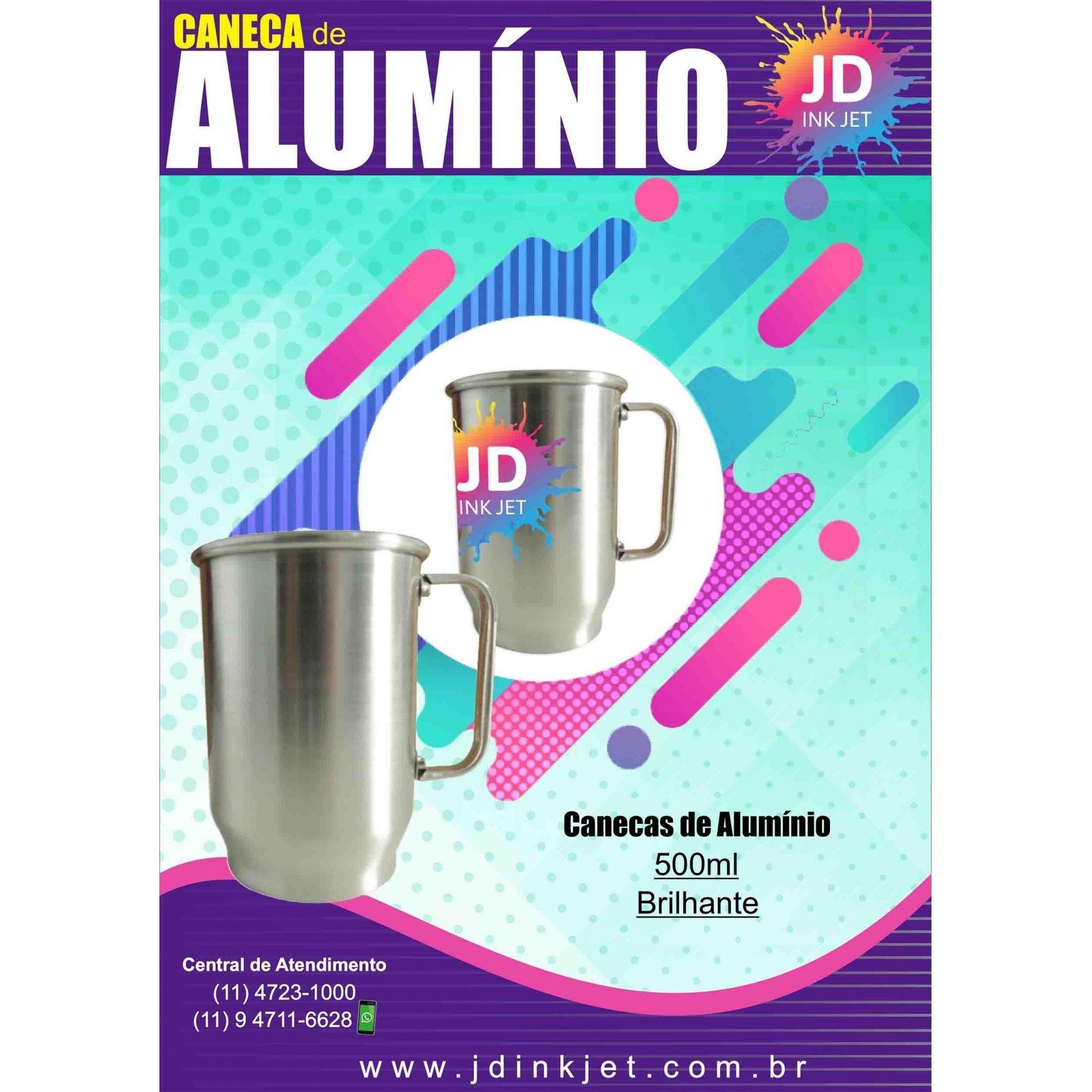 Caneca de Alumínio 500ml Brilhante
