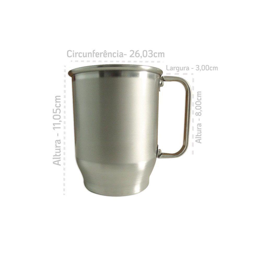 Caneca de Alumínio 500ml Com Tarja