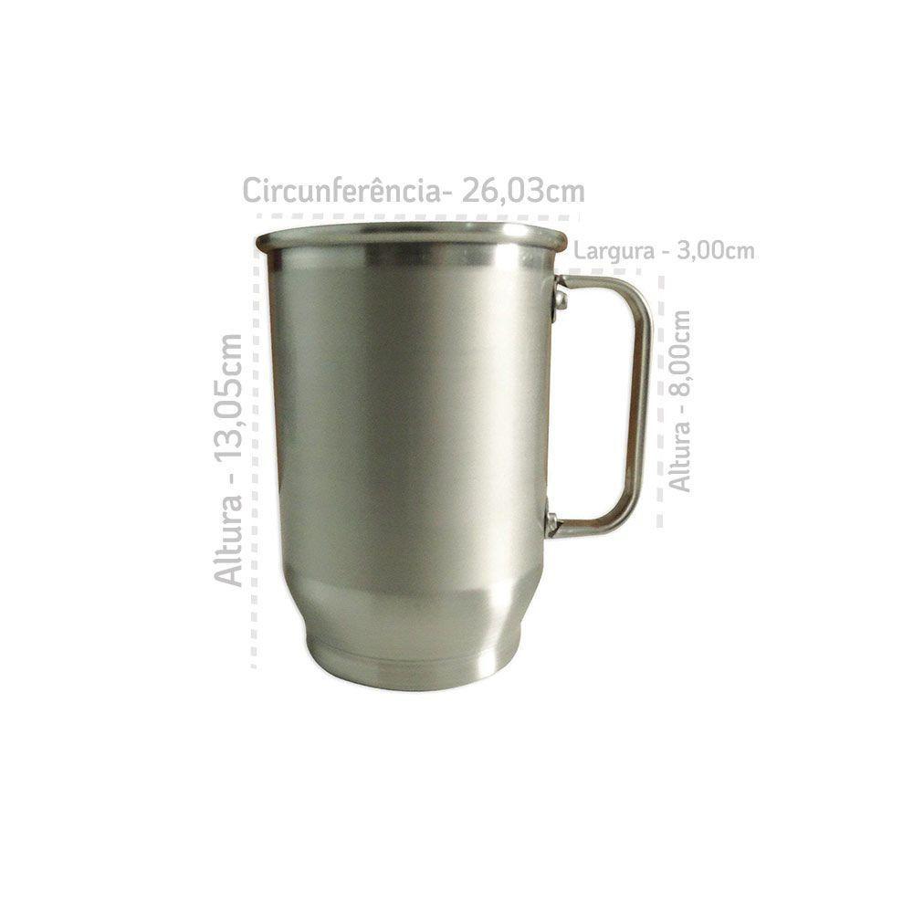 Caneca de Aluminio - 600ml Com Tarja