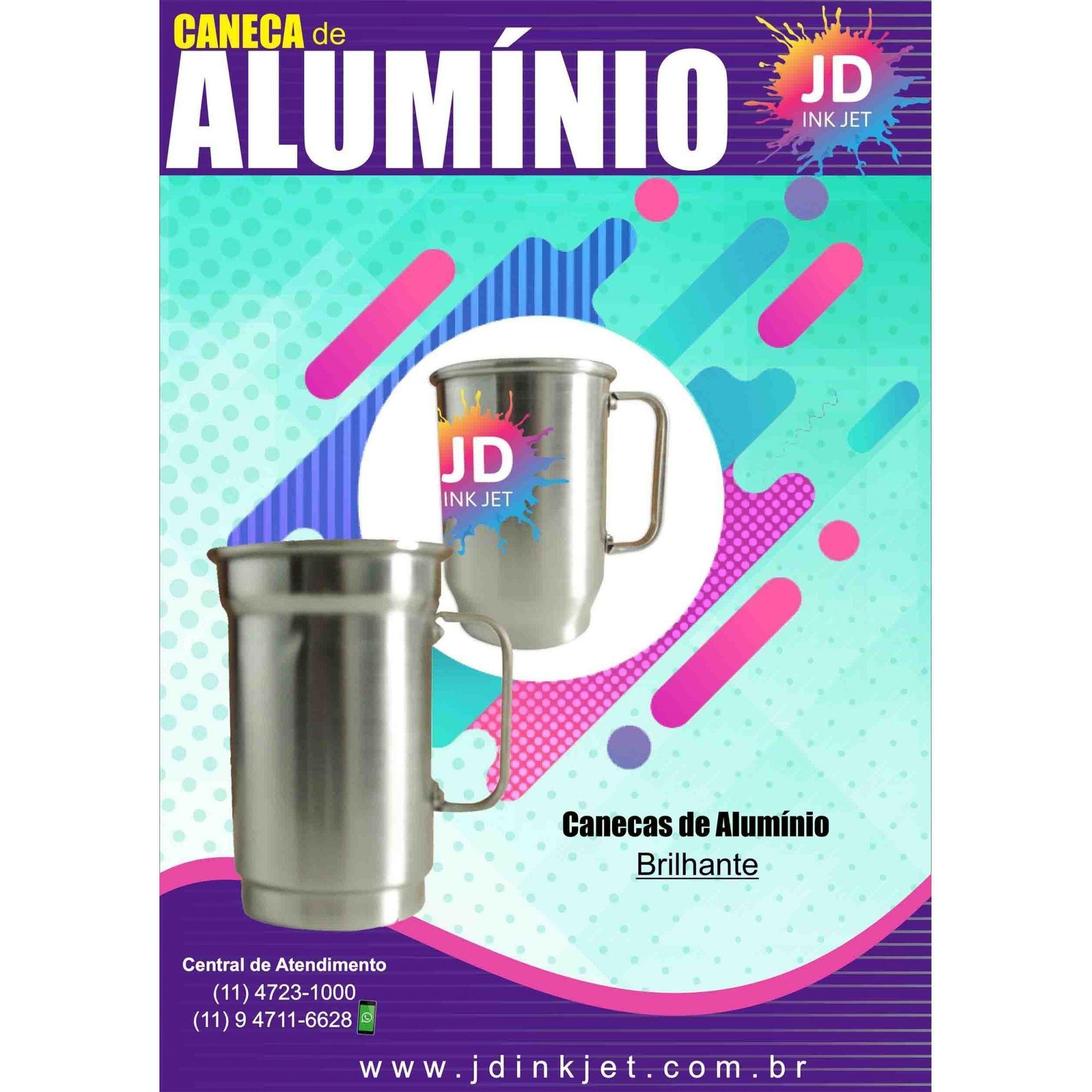Caneca de Alumínio 650ml Brilhante