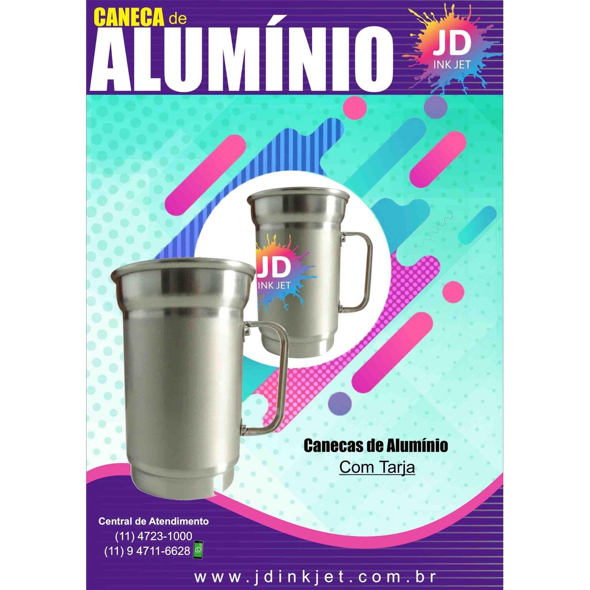 Caneca de Alumínio 650ml Com Tarja