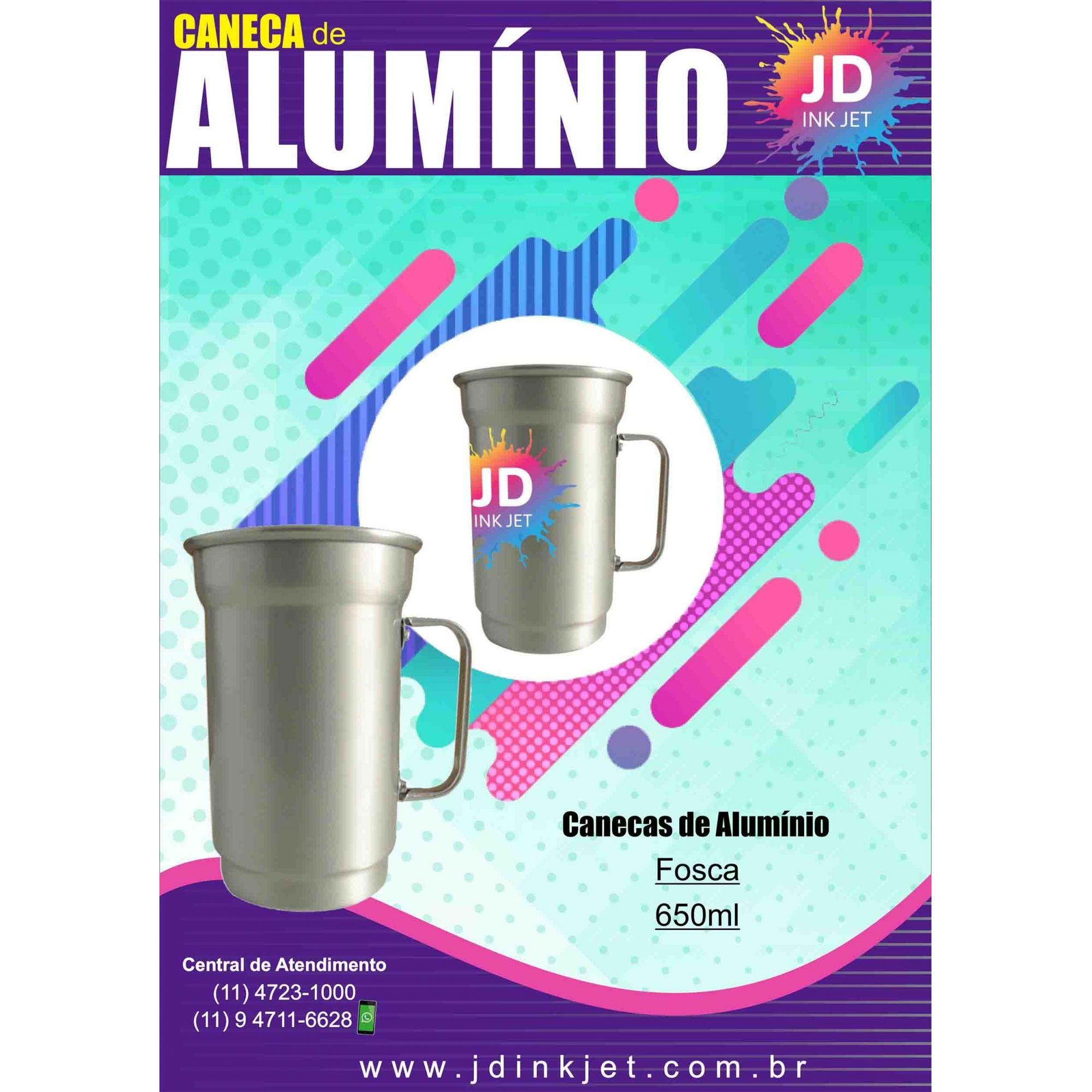 Caneca de Alumínio 650ml Fosca