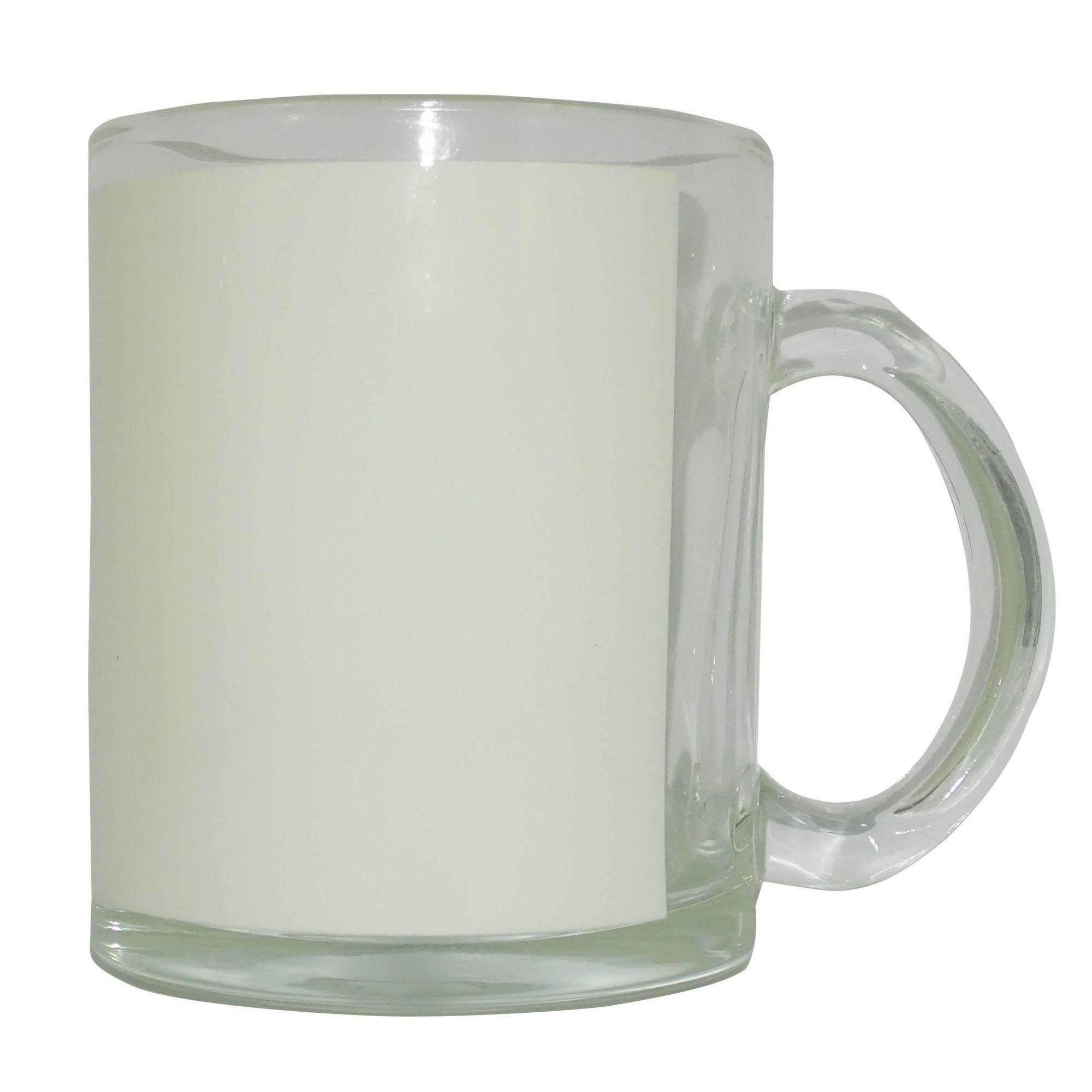 Caneca de Vidro Brilhante C/ Tarja