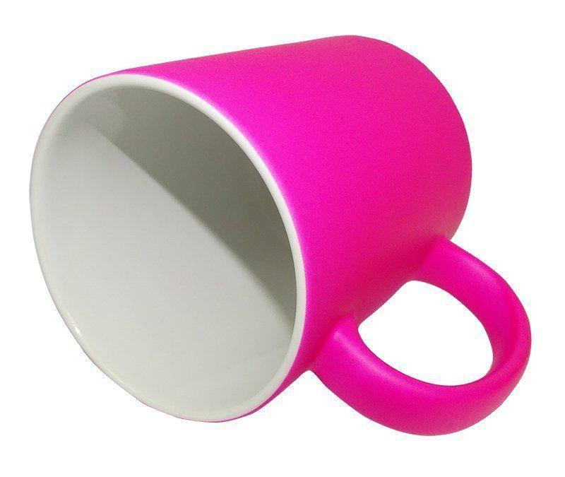 Caneca Fluorescente Rosa Pink 24 unidades