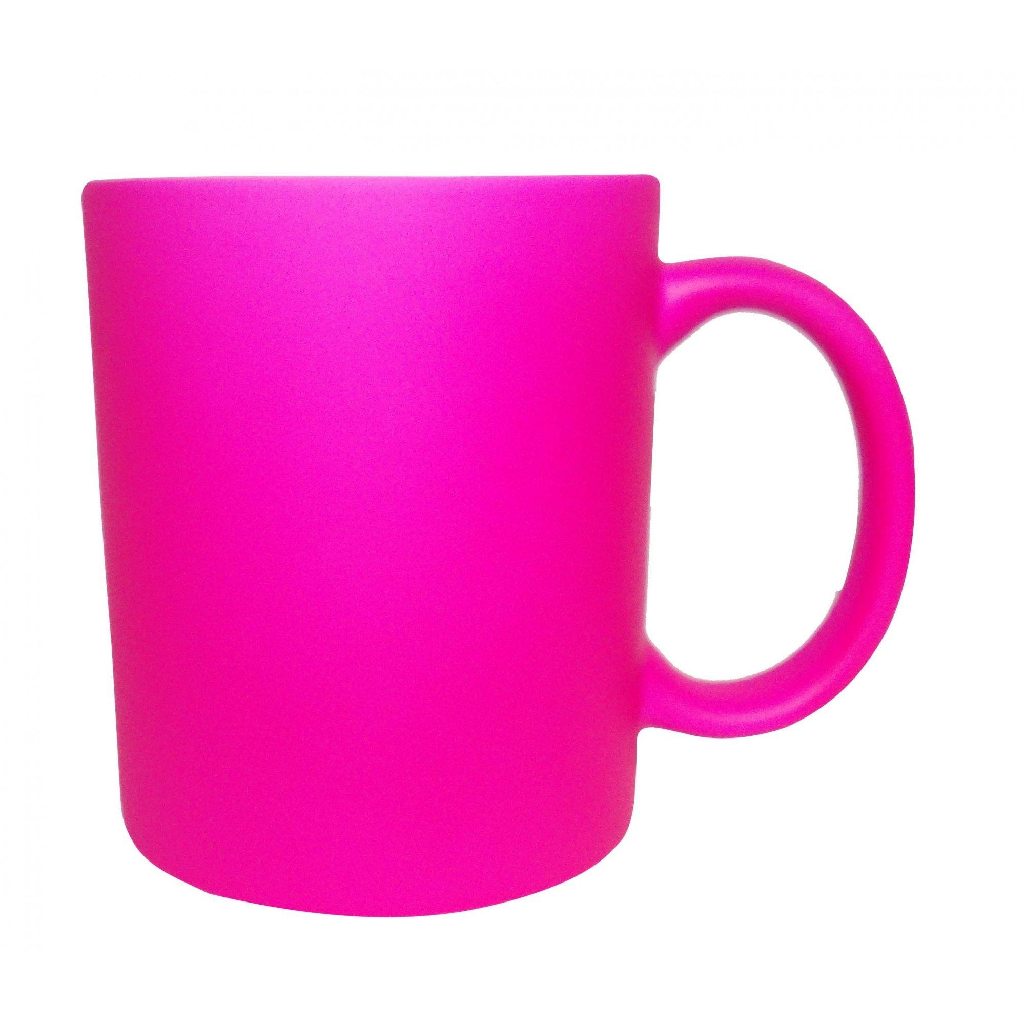 Caneca Fluorescente Rosa Pink