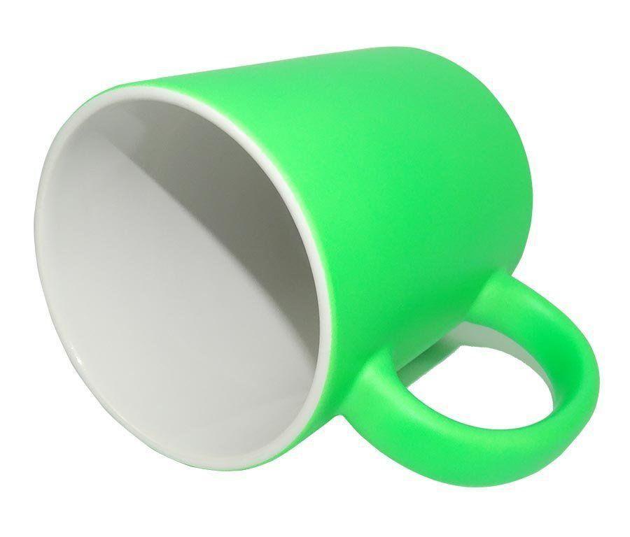 Caneca Fluorescente Verde 12 unidades