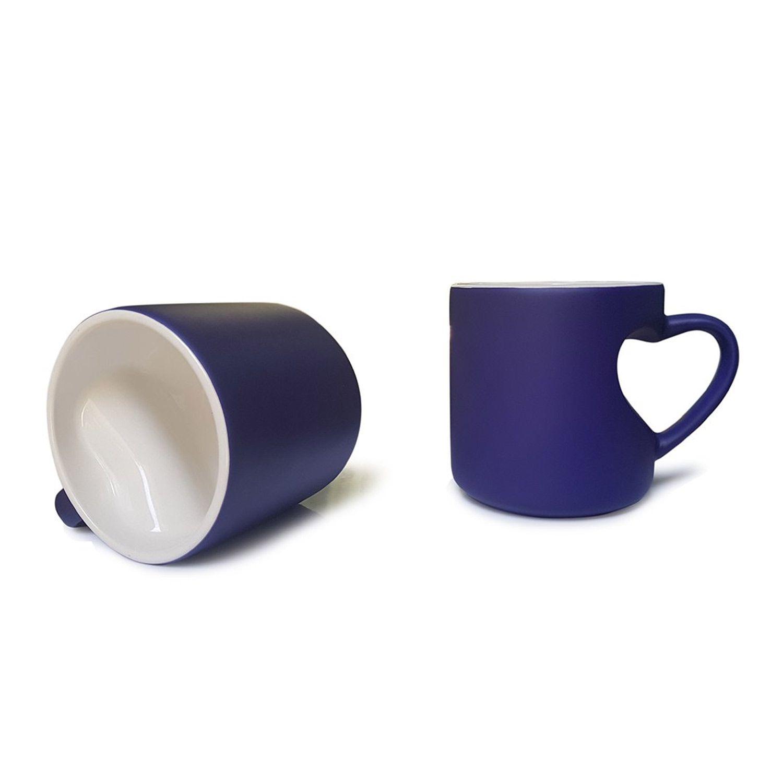 Caneca Mágica Alça Coração - Azul - 325ml