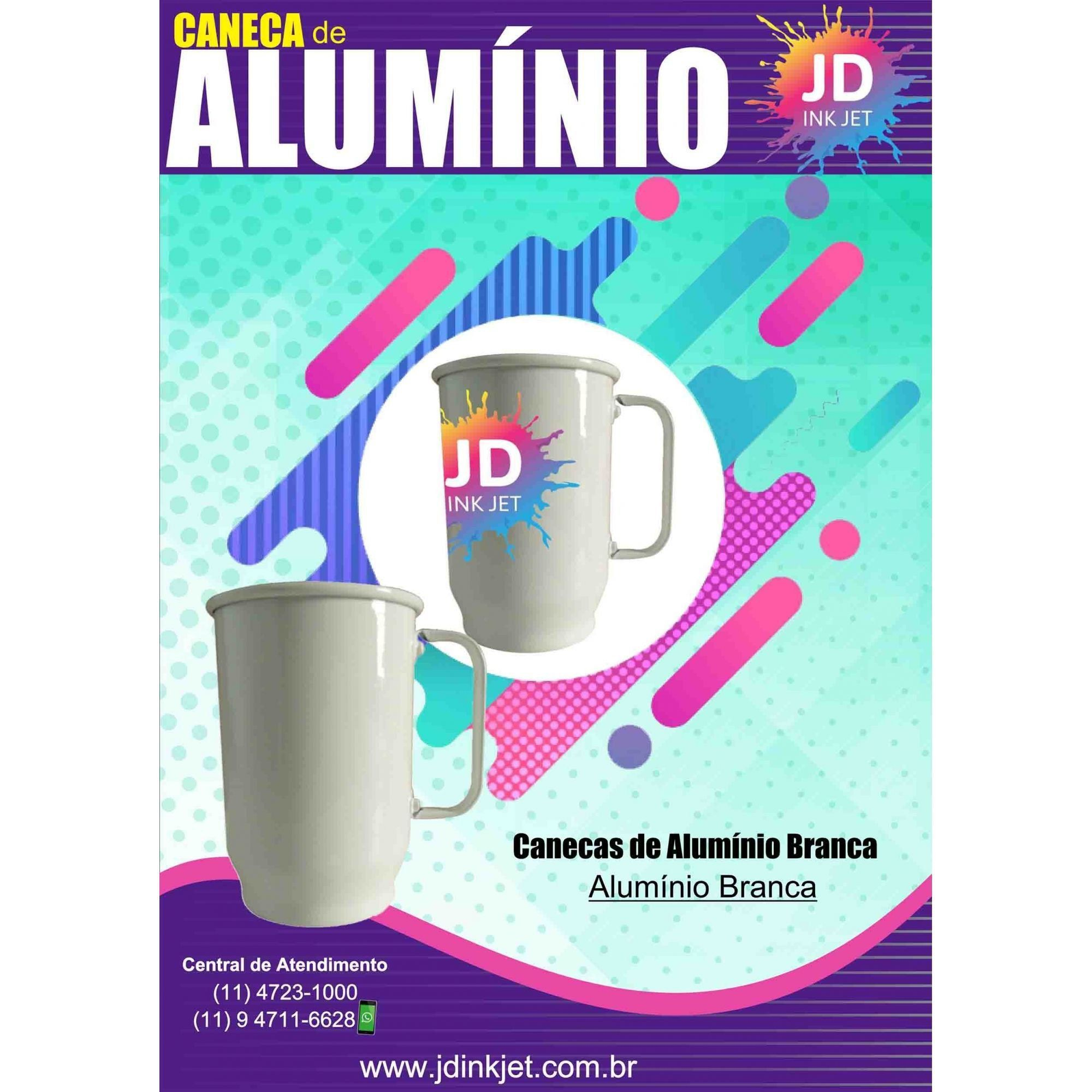 Caneca P/ Sublimação -  Aluminio 400ml Branca