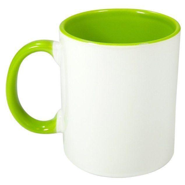 Caneca P Sublimação - Interna Verde Claro 325ml