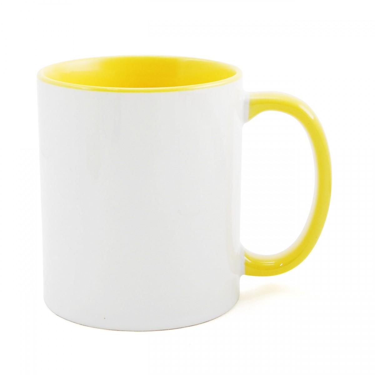 Caneca P Sublimação - Branca e Amarela 325ml