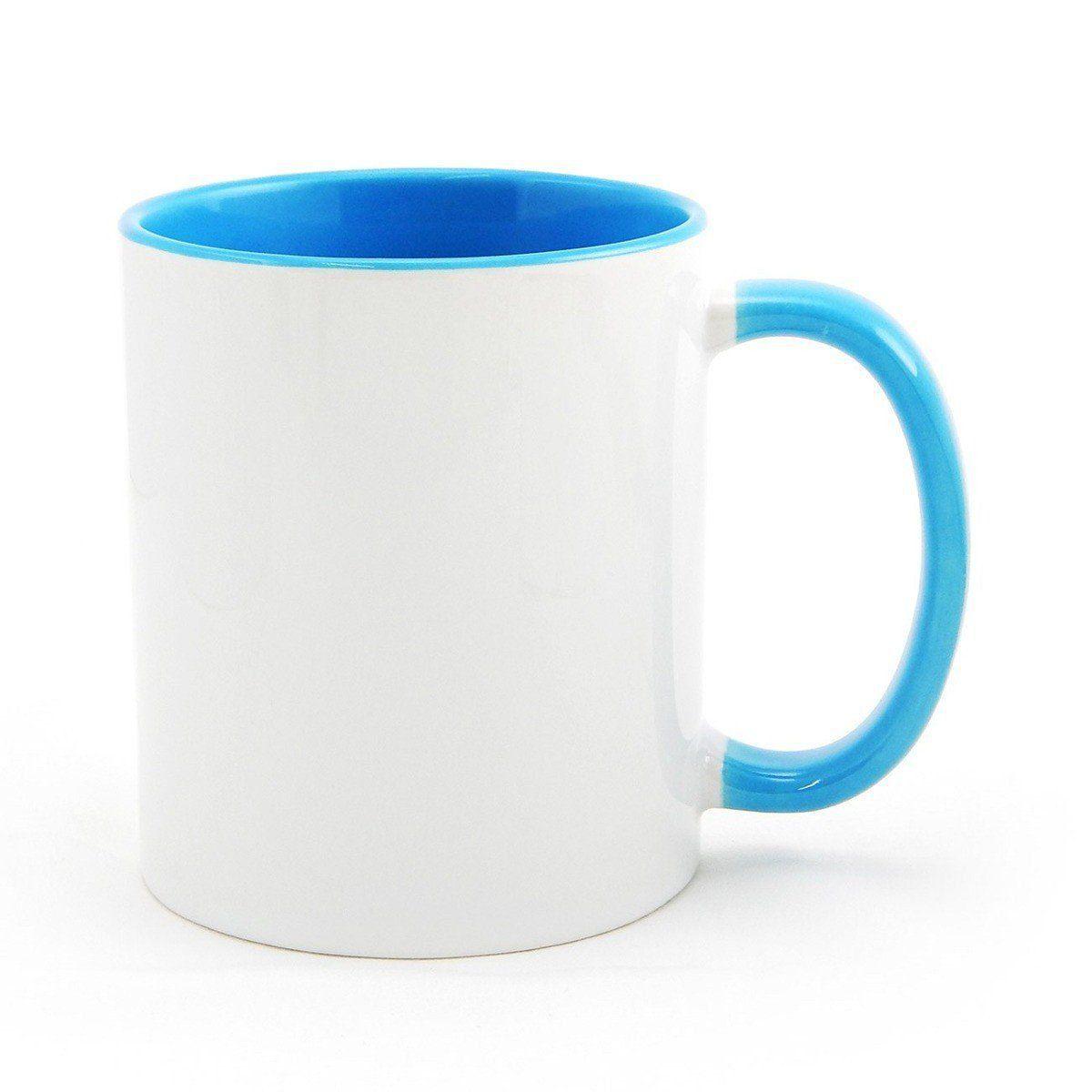 Caneca P Sublimação - Interna Azul Claro BB 325ml