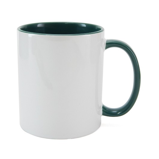Caneca P Sublimação - Interna Verde Escuro 325ml