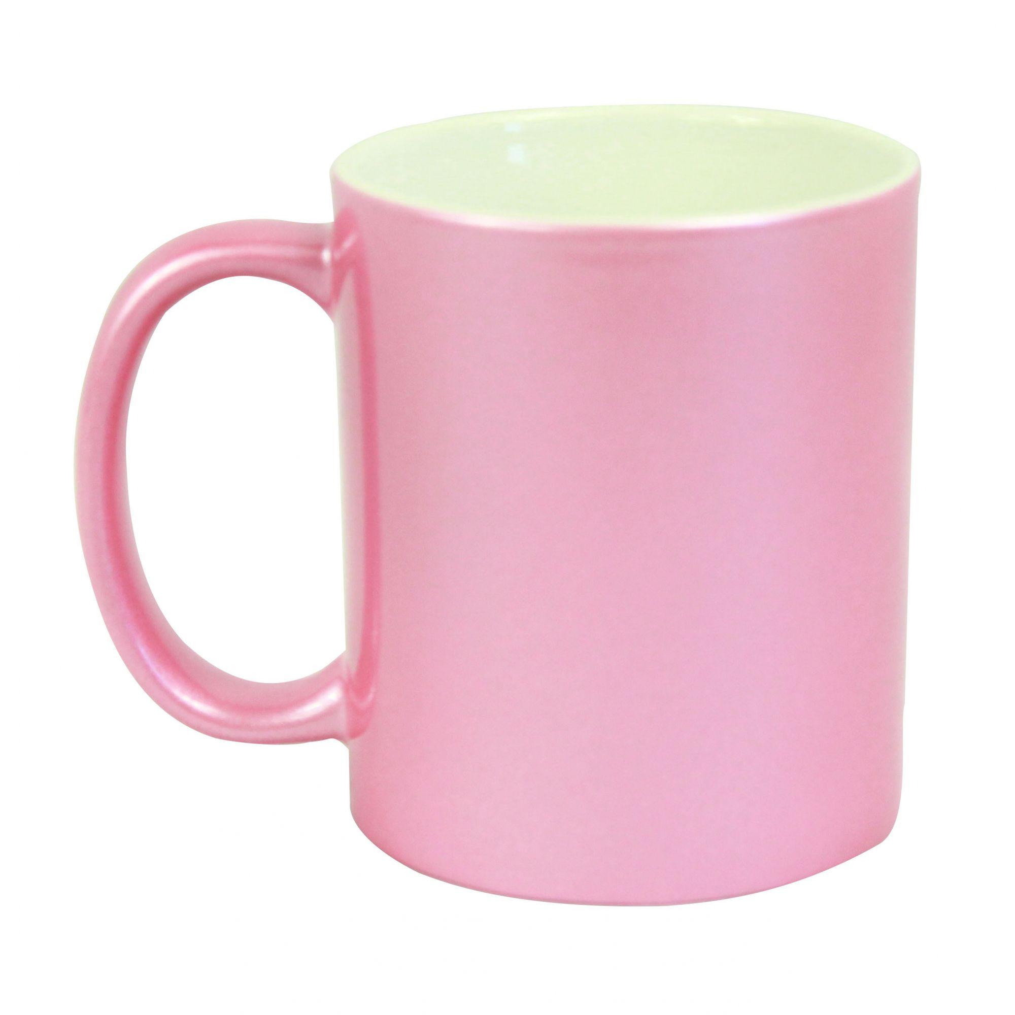 Caneca Perolada Para Sublimação Rosa