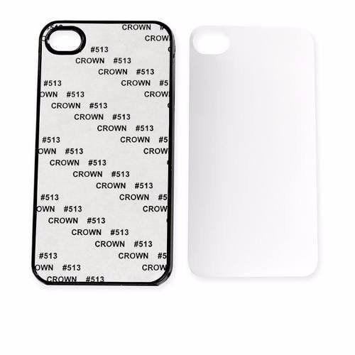 Capa celular c/ chapinha metal para sublimação Iphone 4