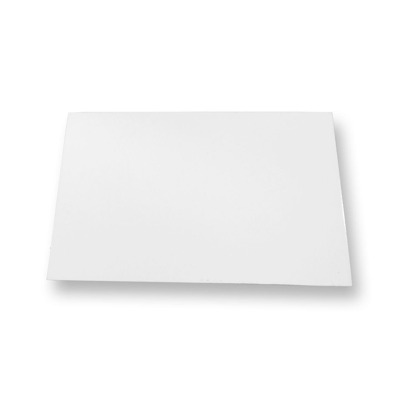 Chapa De Metal Para Sublimação - Branca - 15cm x 20cm