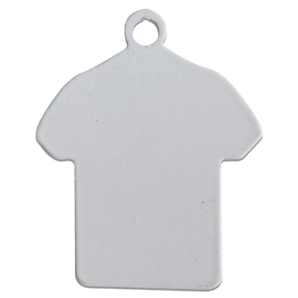 Chaveiro de Metal Para Sublimação Formato Camiseta pct com 5un