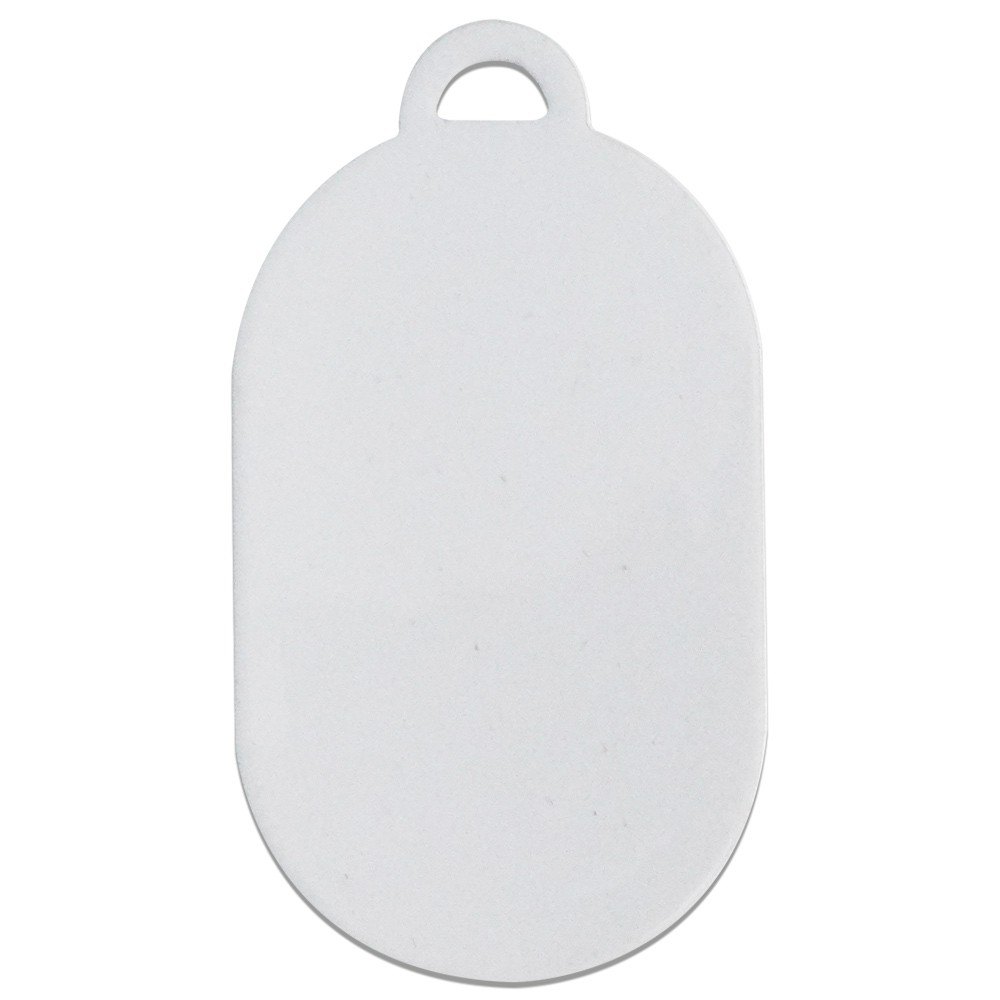 Chaveiro de Metal Para Sublimação Formato Oval pct com 5un