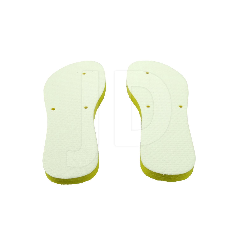 Chinelo Com Tecido P/ Sublimação - Feminino - Adulto - Flat - Amarelo