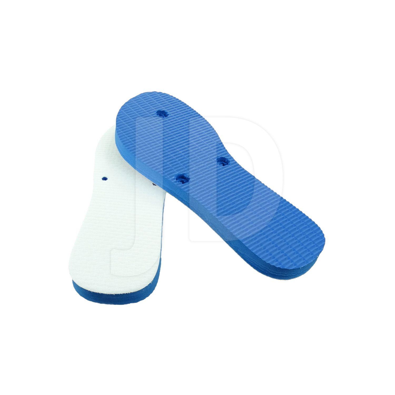 Chinelo Com Tecido P/ Sublimação - Feminino - Adulto - Flat - Azul Royal