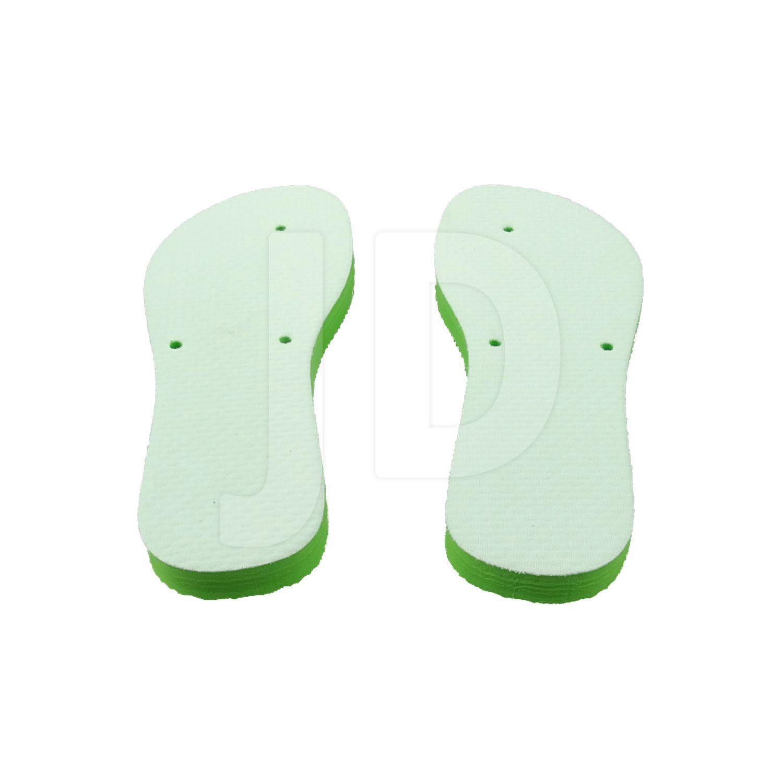 Chinelo Com Tecido P/ Sublimação - Feminino - Adulto - Flat - Verde Limão