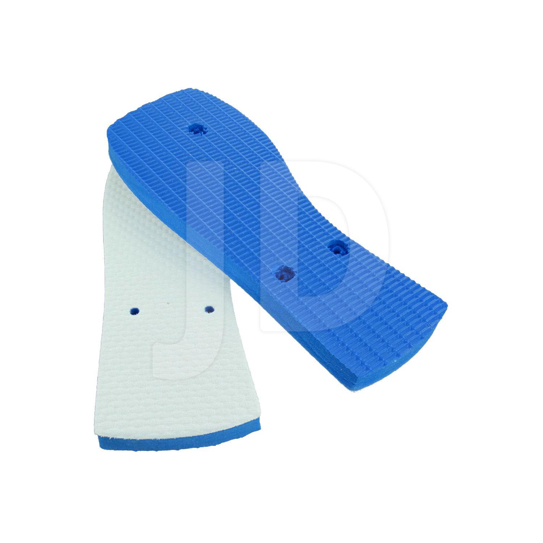 Chinelo Com Tecido P/ Sublimação - Feminino - Adulto - Quadrado - Azul Royal