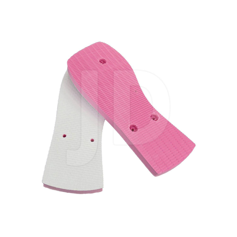 Chinelo Com Tecido P/ Sublimação - Feminino - Adulto - Quadrado - Rosa Pink