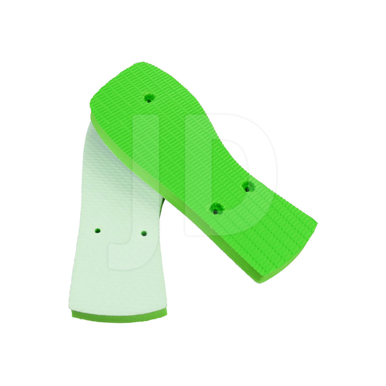 Chinelo Com Tecido P/ Sublimação - Feminino - Adulto - Quadrado - Verde Limão