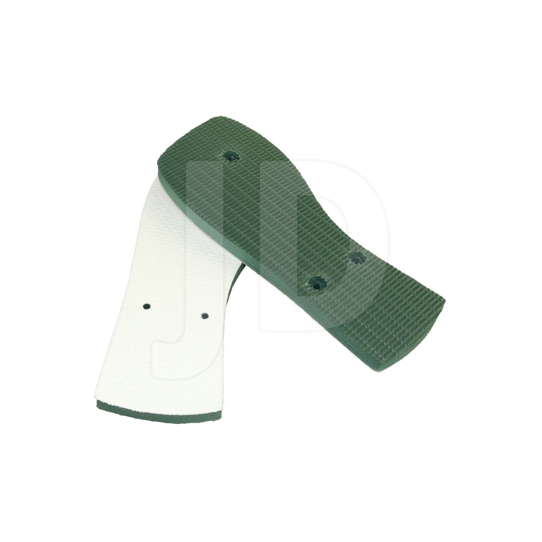 Chinelo Com Tecido P/ Sublimação - Feminino - Adulto - Quadrado - Verde Musgo/Bandeira