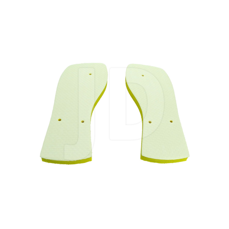 Chinelo Com Tecido P/ Sublimação - Masculino - Adulto - Quadrado - Amarelo