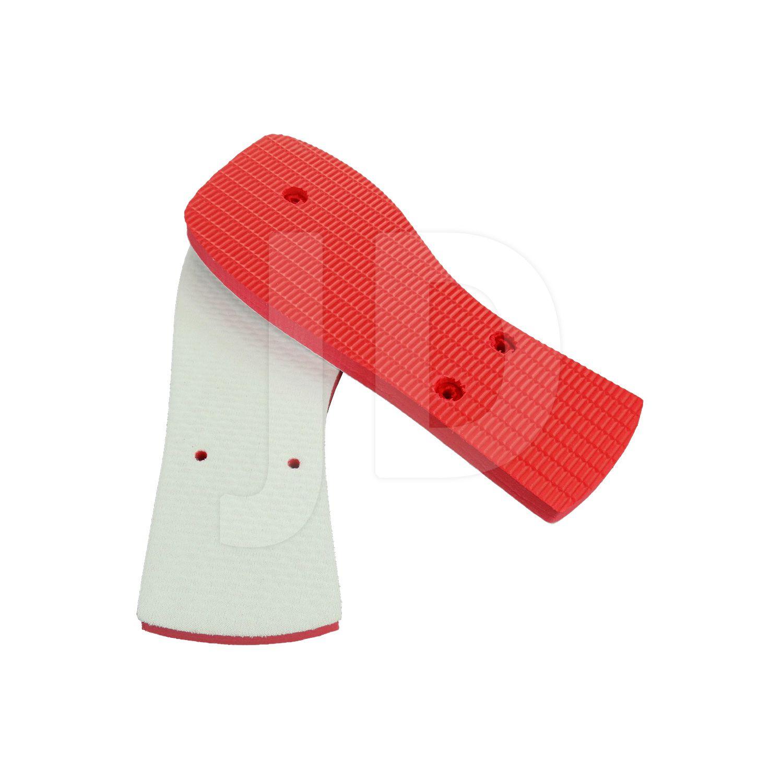 Chinelo Com Tecido P/ Sublimação - Masculino - Adulto - Quadrado - Vermelho