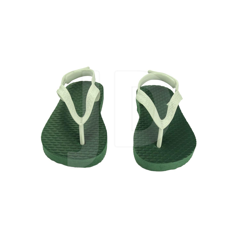 Chinelo Liso - Para Transfer e Silk - Baby - Verde Musgo/Bandeira