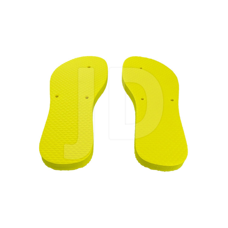 Chinelo Liso - Feminino - Adulto - Flat - Amarelo
