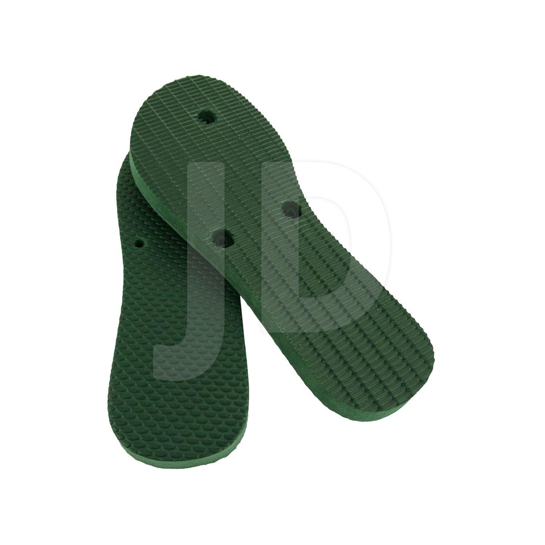 Chinelo Liso - Para Transfer e Silk - Feminino - Adulto - Flat - Verde Musgo/Bandeira