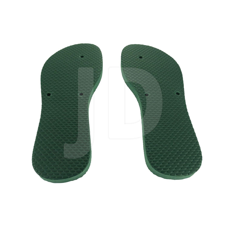 Chinelo Liso - Feminino - Adulto - Flat - Verde Musgo/Bandeira