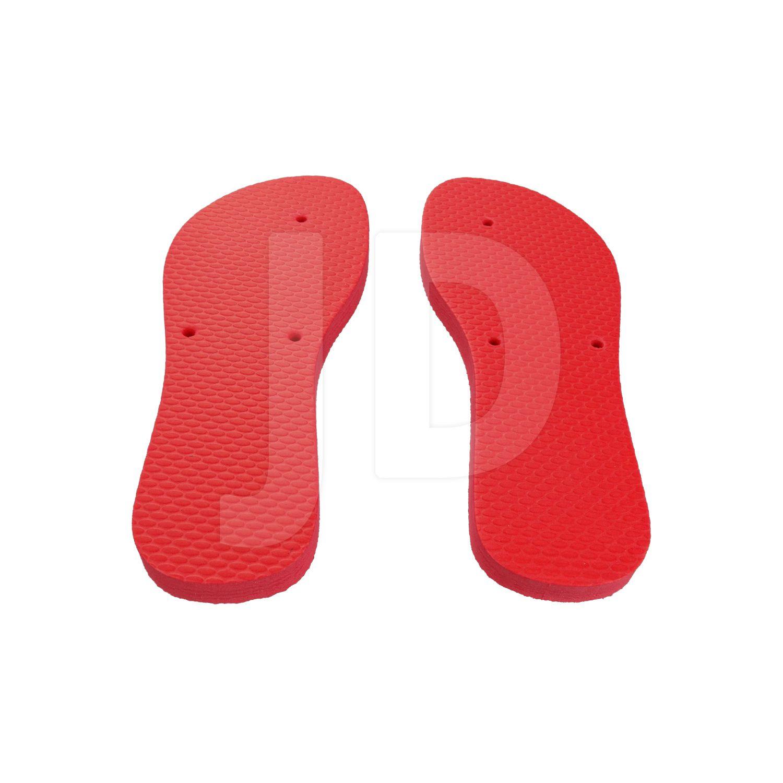 Chinelo Liso - Para Transfer e Silk - Feminino - Adulto - Flat - Vermelho
