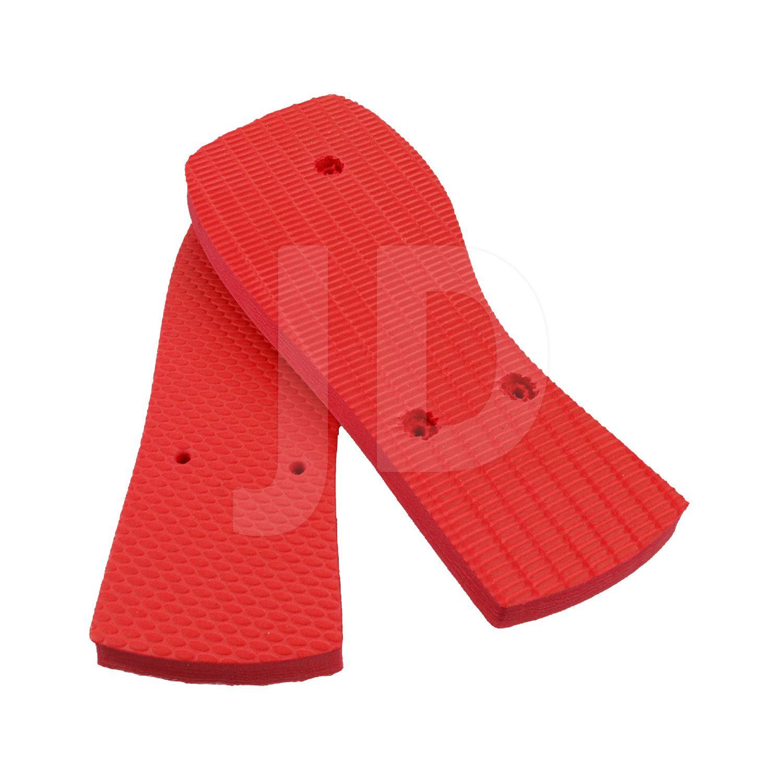 Chinelo Liso - Feminino - Adulto - Quadrado - Vermelho